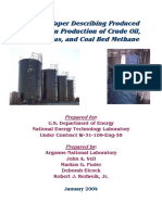 A white paper describing produced H2O from production of crude oil, natural gas & coal bed methane