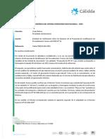 CALIDDA_Solicitud Rectificacioìn Sobre Alcances de La Propuesta Modificacioìn de Procedimiento Teìcnico No 31