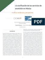 El desarrollo de la tarificación de los servicios de transmisión en México. Historia, tendencias y perspectivas