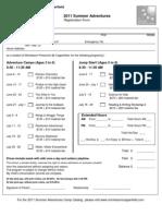 2011 Summer Registration Fom