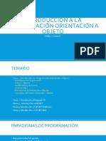 Introducción a la Programación Orientación a Objeto