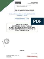 ANEXO 3  ANEXO N° 02 MFSA Contenidos mínimos de los términos de referencia para La Formulación de Estudios de Pre Inversión