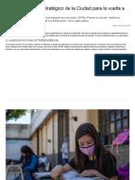 Cómo es el plan estratégico de la Ciudad para la vuelta a las clases _ Noticias _ Buenos Aires Ciudad - Gobierno de la Ciudad Autónoma de Buenos Aires