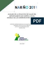 Departamento Nariño ASIS 2019