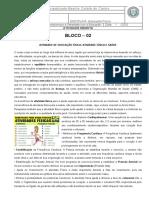 Atividade Remota 2 - ATIVIDADE de EDUCAÇÃO FÍSICA Com Nomes Em Destaque