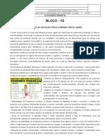 Atividade Remota 2 - ATIVIDADE DE EDUCAÇÃO FÍSICA