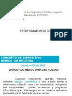 Dispositivos Medicos segun la Resolucion 47252005