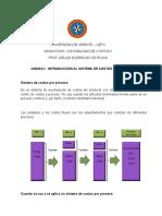 Introducción Al Sistema de Costeo Por Proceso Unidad I