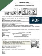 LÍNGUA PORTUGUESA 6º ano 3º Trimestre - 2015 BATERIA DE EXERCÍCIOS COMPLEMENTARES (1)