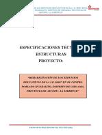 Especificaciones Técnicas Estructuras Huabalito