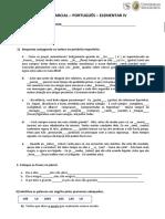 Exame parcial Elementar IV 2021