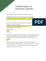AUTOVALUACION MODULO 10  PROVOCA EXPERIMENTA Y APRENDE .