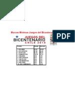 marcas minimas bicentenarios