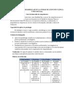 COMPETENCIAS A DESARROLLAR EN LA UNIDAD DE ATENCIÓN CLÍNICA Y PSICOSOCIAL 111