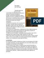 III HISTORIA ORAL DEL EL VALLE.