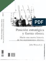Womack Jr., John-Posición Estratégica y Fuerza Obrera. Hacia Una Nueva Historia de Los Movimientos Obreros