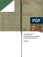 Cardoso; Pérez Brignoli-Los Métodos de La Historia