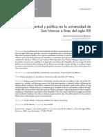 Lostaunau, Augusto-Juventud y política en la universidad de SM a fines del siglo XIX
