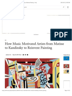 How Music Motivated Artists from Matisse to Kandinsky to Reinvent Painting - Artsy