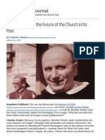 Charles Taylor - Yves Congar And The Future Of The Church In Its Past