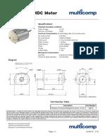 Miniature PMDC Motor