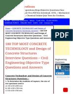 180 TOP Concrete Technology & Design of Concrete S