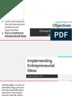 3 Implementing Entrepreneurial Ideas