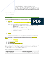 Accounting Periods and Methods and Other Compliance Requirements