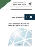 Zoneamento Geoambiental Da Região e Município de Franca_LIMA