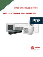 Erros+&+Troubleshooting+ Piso+Teto+e+Cassete Duto+Trane+Inverter