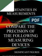 2. Uncertainties in MEasurements