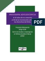 Programa Adolescencia DGNyA-CEIPSU