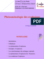 Phénoménologie des explosions