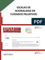 Escalas de Funcionalidad en La Toma de Decisiones en Cuidados Paliativos