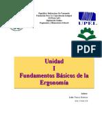 Unidad I Fundamentos basicos de la ergonomia francis martinez