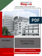 Institutional Correction