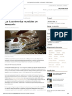 Los 9 Patrimonios Mundiales de Venezuela - IAM Venezuela