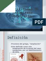 Generalidades de Aneurismas Cerebrales