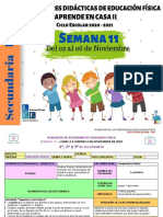 1°, 2° y 3° Secundaria en EF Semana 11- LEF Antonio Preza