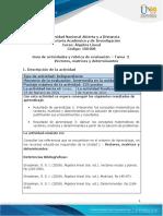 Guía de actividades y rúbrica de evaluación - Unidad 1-Tarea 2- Vectores matrices y determinantes