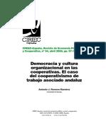 AntonioRomero DemocraciaYCulturaOrganizacionalEnLasCooperativas RevCIRIEC N54!97!127 2006