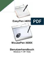 EasyPen i450X,MousePen i608X-PC-German