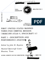 First United States Manned Three-pass Orbital Mission Mercury-Atlas 6, Spacecraft 13 Part 1 - Description and Performance Analysis