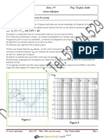 Série d'exercices - Physique - Filtre passe Bas passif - Bac Informatique (2018-2019) Mr Daghsni Sahbi