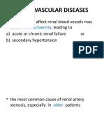 RENAL VASCULAR DISEASES