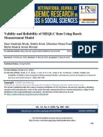 2020 Noor HaslindaShuib (Validity and Reliability of MEQI-C)