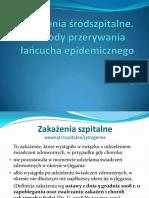 zakażenia śródszpitalne, profilaktyka