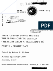 First United States Manned Three-pass Orbital Mission Mercury-Atlas 6, Spacecraft 13 Part 2 - Flight Data