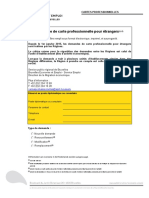 Formulaire Demande Carte Professionnelle Ambassade