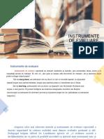 "ANTOCHI PETRONELA, PPS 3, Prezentare ""Instrumente de evaluare"""